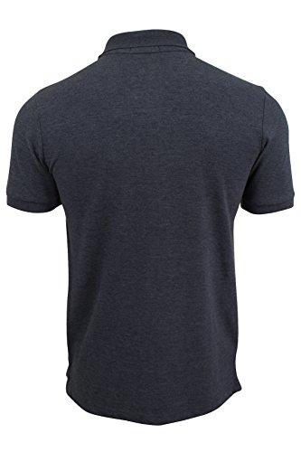 Herren Kurzärmeliges Polohemd T-Shirt von Tokyo Laundry 'Rochester' Rochester - Mood Indigo Marl