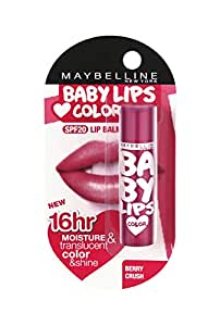 Maybelline New York Baby Lips Lip Balm, Berry Crush, 4g