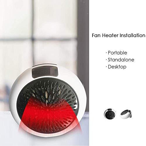Termoventilatore Elettrico,Mini Stufe Elettrica,Portatile Mini Ceramica Riscaldamento Ventilatore con termostato registrabile- 900WMini...
