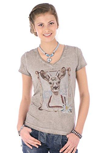 Krüger-Dirndl Trachten T-Shirt Sophie braun, Gr. L