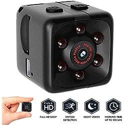 Mini Camara Espia Oculta Videocámara,1080P HD Cámara Vigilancia Portátil Secreta Compacta con Detector de Movimiento IR Visión Nocturna, Camaras de Seguridad Pequeña Interior/Exterior
