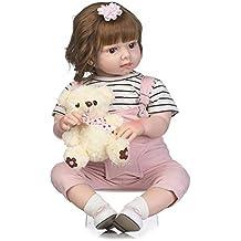 4d016cb2f2a7 Cutogain NPK 55 cm Silikon Reborn Puppe Mode Baby Puppen Prinzessin Mädchen  Kinder Geburtstagsgeschenk Kinder Spielzeug