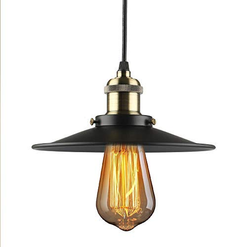 b2ocled Pendelleuchte Retro Industrie Metall Decken Lampenschirm E27Aufhängen Beleuchtung Schatten Antik 22cm -