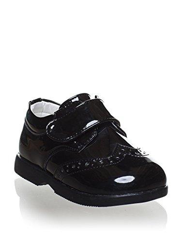 Paisley of London, Jungen Schwarz Schuhe, Klettverschluss Schuhe, Baby Jungen Schuhe, Infant 1-8, Schwarz - Patent Black - Größe: 17 1 Black Patent Schuhe