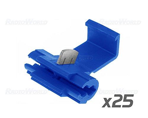 Verbindungsklemmen, 25 Stück, Blau, schnelle Verbindung, elektrisch (Scotch-lock-kit)