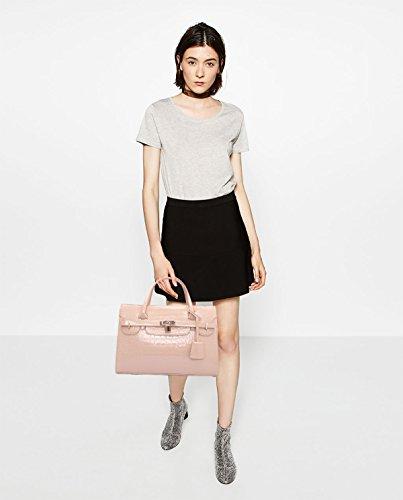 Sunas Estate nuova Femminile Borsa a mano Moda Borsa messenger Top borsa Platinum coccodrillo modello big bag cachi