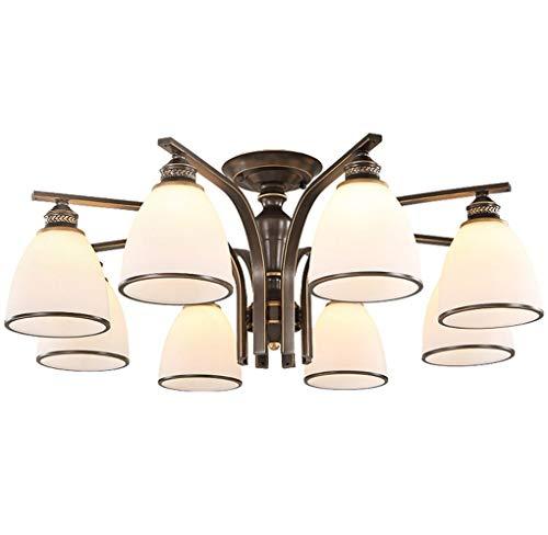 8 Sprinkler (Amerikanische Deckenleuchte, Bügeleisen Classic Creative Einfache Wohnzimmer Beleuchtung Restaurant Nordic Schlafzimmer Continental lampen E27 Chic (Größe: 8 Sprinkler))