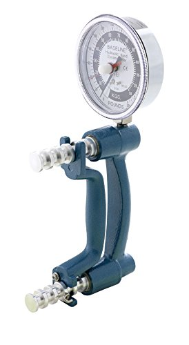 Has an extended range 300 pound capacity;Unit has blue body and extra-large 3-1/2 analogue gauge for easy read-out;for handtherapy, strenght, coordination;Physiotherapysupplies