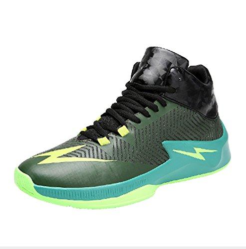 Scarpe da pallacanestro Uomo basso per aiutare le scarpe sportive da uomo Uomo Cravatta di combattimento effettivo per indossare scarpe traspiranti Scarpe da estate inverno Taglia 45 46 ( Color : Green , Size : US7.5/EU439/UK6.5/CN40 )