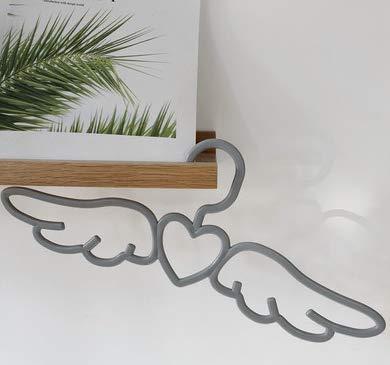 Fairy Hanger Girl Heart Little Angel Wings Vintage French Multi-Function Non-Slip Hanger Gray 5Pcs