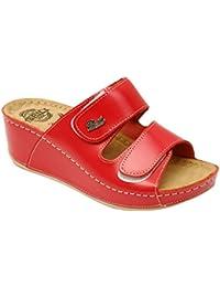 BRIL Dr Punto Rosso D112 Sandali Zoccoli Sabot Pantofole Scarpe Pelle Donna 1433aef537e