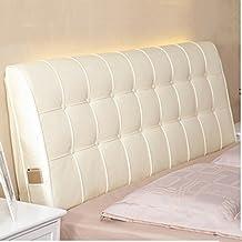 ZXEEEE ~ Moda suave suave Triángulo de ocio cojine Cama de cabecera cama doble con cojines grandes almohada Almohadón cómodo encantador de la pausa del almuer ( Color : Beige , Tamaño : 90*60*10cm )