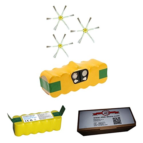 Akku für iRobot Roomba 3500mAh + Seitenbürsten–für alle Serie 500600700–Garantie JSD (Notebook 3500 Serie)