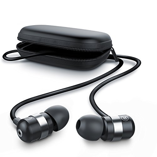 CSL 680 Auriculares / audífonos estéreos in-ear superiores de aluminio de gama alta | Nueva serie 2016 | Transductor acústico de 10 mm | Resistente cable de aramida | Diseño curvado | Incluye funda cuadrada | Negro / Plateado
