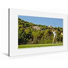 Premium Textil-Leinwand 90 cm x 60 cm quer Emotional Moment: Golf. | Wandbild, Bild auf Keilrahmen, Fertigbild auf echter Leinwand, Leinwanddruck (CALVENDO Orte)