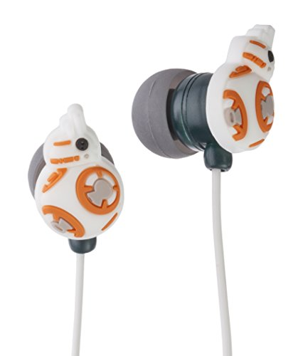 Star Wars Auricolari Stereo, Figura BB-8, 3.5 mm Jack, Bianco/Arancione