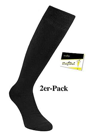 """2er Pack Thermo Kniestrumpf """"schwarz extra warm"""" Damenkniestrumpf Frauenkniestrumpf Mädchenkniestrumpf Damen Frauen Mädchen in 2 Größen"""