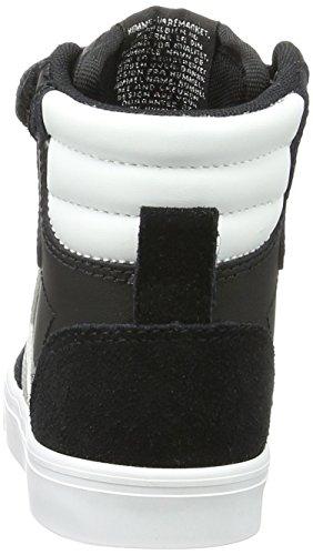 Hummel Stadil Jr Leather, Sneakers Basses Mixte Enfant Noir (Black-676)