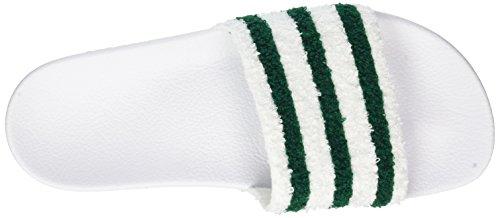 adidas Adilette, Chaussures de Plage et Piscine Homme Blanc (Footwear White/sub Green/footwear White)
