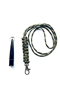 Acme 211.5 Dog Whistle & Lanyard with Cobra Stitch Knot 3mm in Woodland Camo