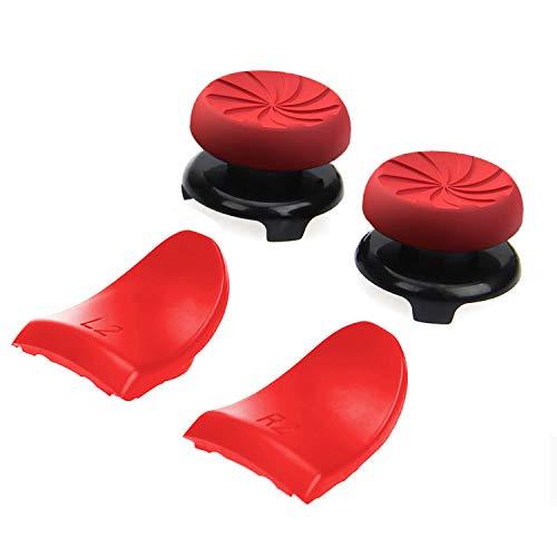ANDERK Gommini Joystick PS4 Custodia per Impugnatura in Silicone Arancione con Impugnatura, Red