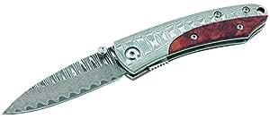 Herbertz Einhandmesser, 71 Lagen Damaszenerklinge Messer, Mehrfarbig, One size