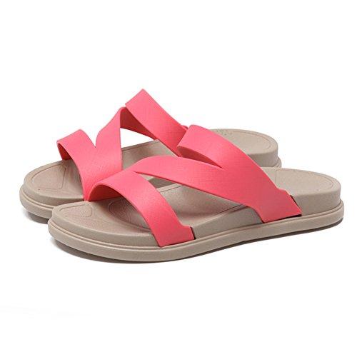 Piattaforma Infradito In Estate/Antiscivolo Scarpe Da Spiaggia/Fondo Piatto Che Indossano Sandali E Pantofole D