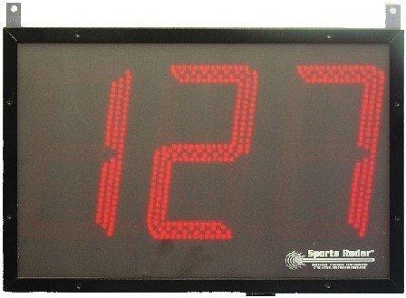 Sport Radar trois 20,3cm chiffres affichage LED rouge