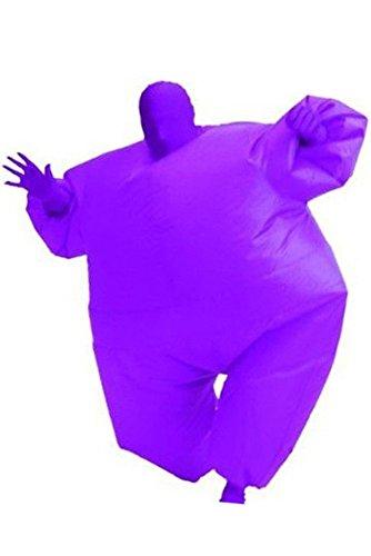 Aufblasbares Fett Dick Kleid Fasching Zweite Haut Anzug Karneval Luftschiff Kostüm Purple (Aufblasbare Luftschiff Kostüm)