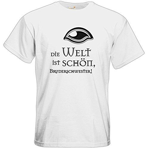 getshirts - Das Schwarze Auge - T-Shirt - Sprüche - Götter - Die Welt ist schön White
