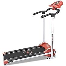 Cinta de andar RunFit Step Red. 12 programas predefinidos. 1000 W de Potencia. Pantalla LED. 10 Km/h. Con Altavoces. Sistema seguridad magnético. Plegable