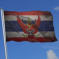 Agoyls Gartenfahne Flagge Flag of Thailand Super Polyester Flag 3x5 Foot Banner with Grommets