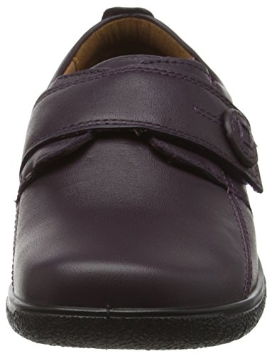 Hotter Sugar EE,Chaussure avec Velcro hommefemme Violet - Purple (Plum)