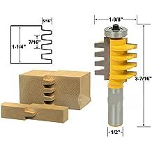 "1PC 1/2 1/4"" Caña Fresa para unión tableros cajas cajones fresadora para carpintería"