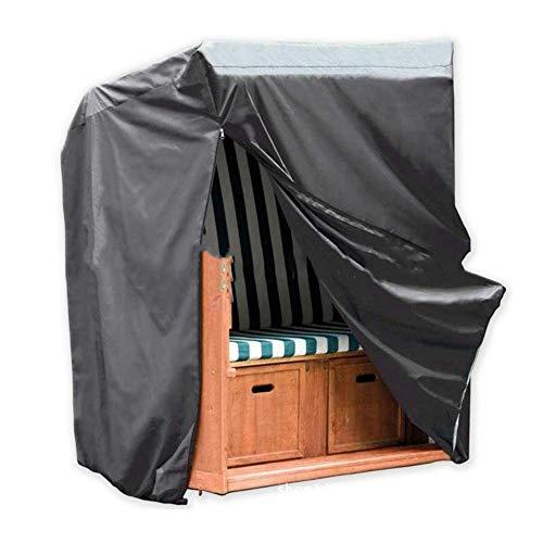 Preisvergleich Produktbild GLP Oxford Cloth Outdoor Gartenmöbel Wasserdichte Staubschutz Gartentisch Und Stühle Balkon Holzrahmen Plane Sonnencreme Abdeckung Schwarz (Size : 220 x 150 x 170cm)