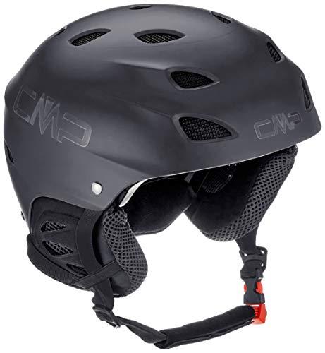 CMP XJ-3 Kids Ski Helmet, Casco da Sci Unisex Bambino, Nero, S