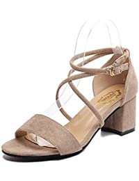 a3bf3ac894 Amazon.it: Sandali con tacco,nere. - Sandali / Scarpe da donna ...