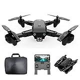 Goolsky CSJ S166GPS Drone avec Caméra 1080P/720P Retour Automatique Accueil WiFi FPV Vidéo en Direct Geste Photos avec 1/2/3 Batterie(Facultatif ) Quadricoptère RC pour Adultes (1080P & 1 Batterie)