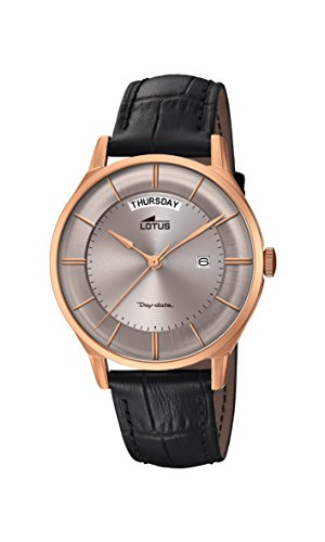 Lotus Watches Mens Analogue Classic Quartz Watch with Leather Strap 18422/1