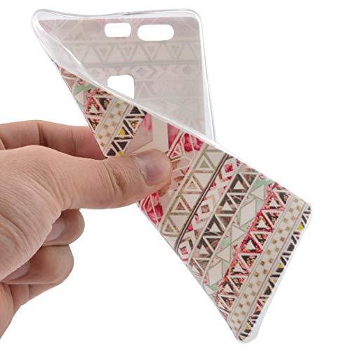 Momoxi Phone Accessory Huawei Handyhülle Handy-Zubehör Zarte Muster Nachahmung der chinesischen Keramikbeschaffenheit Rubber Soft TPU Back Case Cover Skin for Huawei Ascend P9 lite hülle