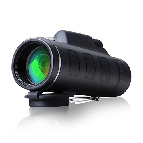 CompraFun Telescopio Monocular 40X60 con Enfoque Dual Zoom Óptico Impermeable Visión Partido...
