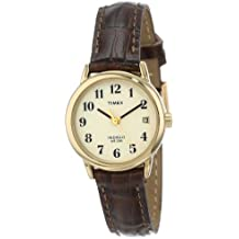 Timex Women's T20071 Easy Reader Brown Leather Strap Watch