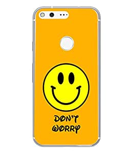 FUSON Designer Back Case Cover for Google Pixel (Big Smiling Baby Smiley Be Happy Never Worry)