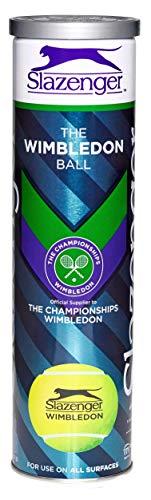 Slazenger Wimbledon 2018 Tennisblle (4-Ball-Dose), Gelb, Einheitsgrße