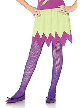Leg Avenue Kinder Mädchen Netz Strumpfhose neon lila Größe L ca. 146 bis 158