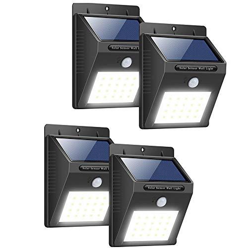 FABBD Solarleuchten Außen Solarlampen für Wände Bewegungsmelder Extra Bright Solar Beleuchtung...