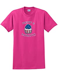 Preppy Patriotic Cupcake American Flag 4th of July T-Shirt