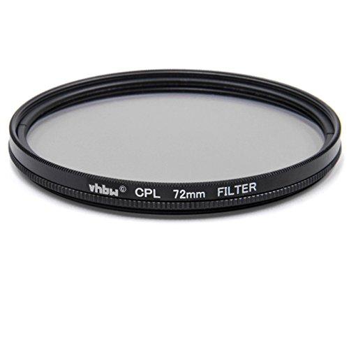 vhbw Universal CPL-Pol-Filter 72mm für Kamera Canon Casio Pentax Olympus Panasonic Sony Nikon Ricoh Sigma Tamron Samsung Fujifilm Agfa Minolta Kodak.