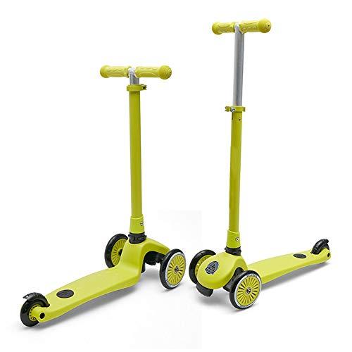 Kids 3 Wheel Scooter – Micro Deluxe Tilt & Turn Balancing Kick Scooter – Höhenverstellbar Und Faltbar Für Kinder Von 2 Bis 8 Jahren