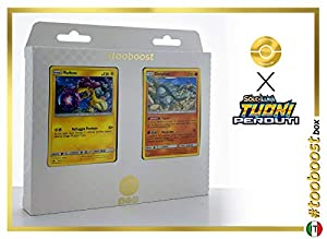 Raikou 79/214 Y Donphan 112/214 - #tooboost X Sol E & Luna 8 Tuoni Perduti Box de 10 Cartas Pokémon Italiano + 1 Goodie Pokémon